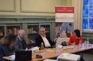 V.l.n.r.: Dr. Kirchner, Dr. Baudner, Hr. Polenz, Prof. MacMillan